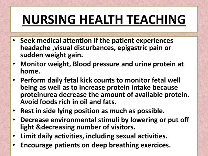 NURSING HEALTH TEACHING