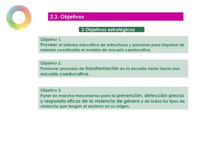 2.3. Objetivos