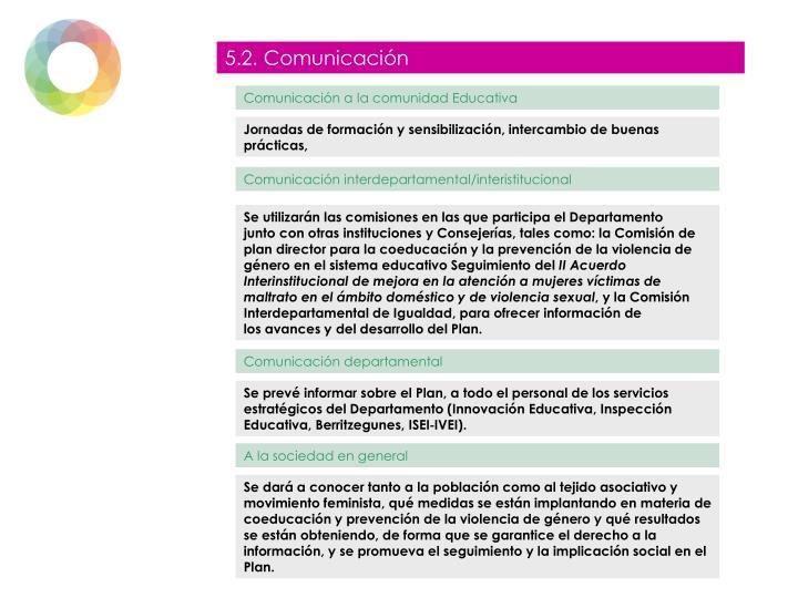 5.2. Comunicación