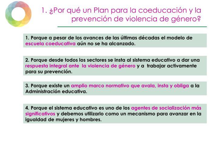 1. ¿Por qué un Plan para la coeducación y la prevención de violencia de género?