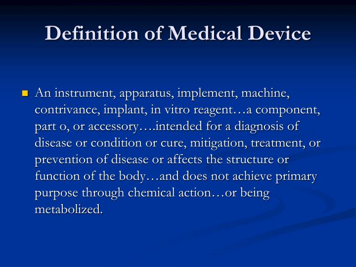 Definition of Medical Device