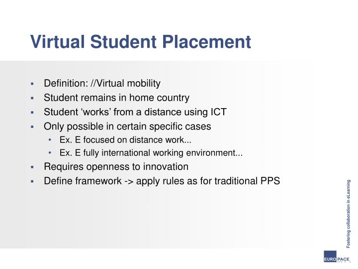 Virtual Student Placement