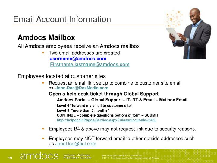 Email Account Information