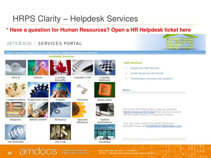HRPS Clarity – Helpdesk Services