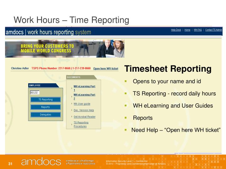 Work Hours – Time Reporting