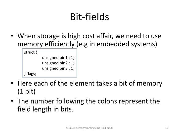 Bit-fields