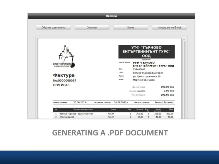 GENERATING A .PDF DOCUMENT