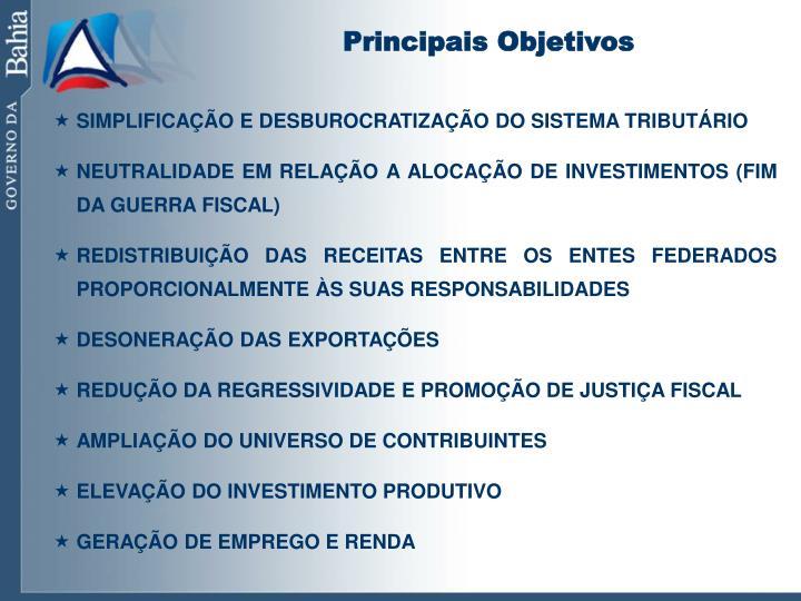 Principais Objetivos
