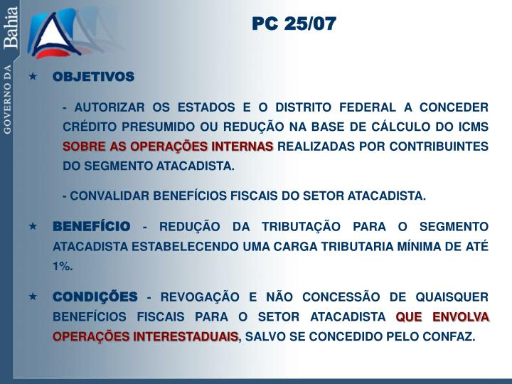 PC 25/07