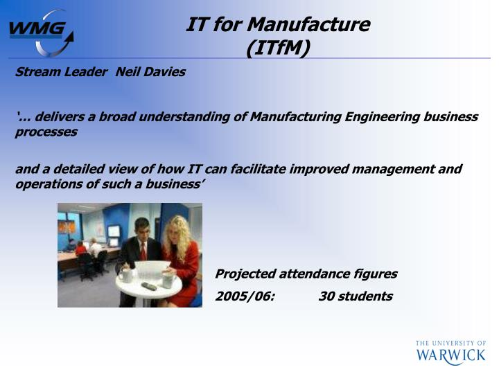 IT for Manufacture
