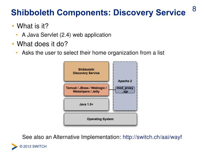 Shibboleth Components: Discovery Service