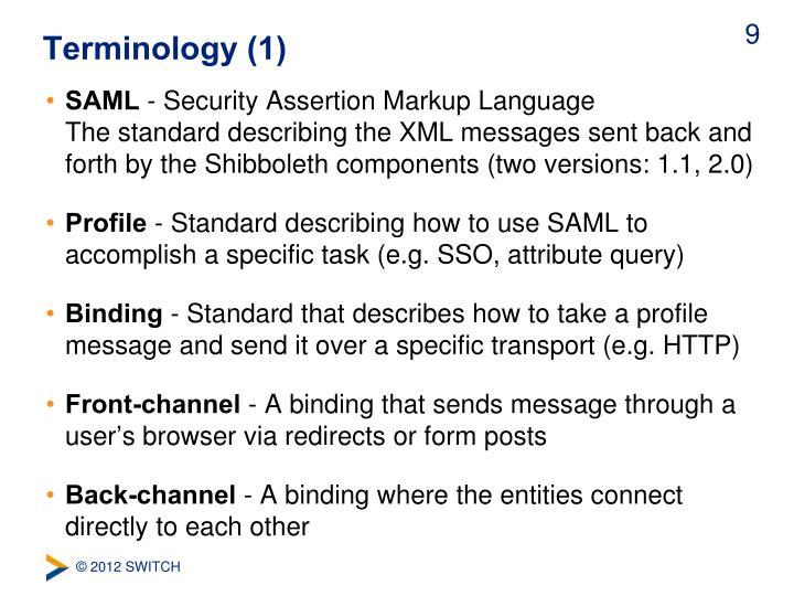 Terminology (1)