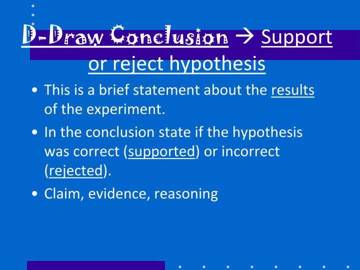 D-Draw Conclusion