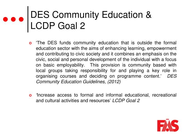 DES Community Education &