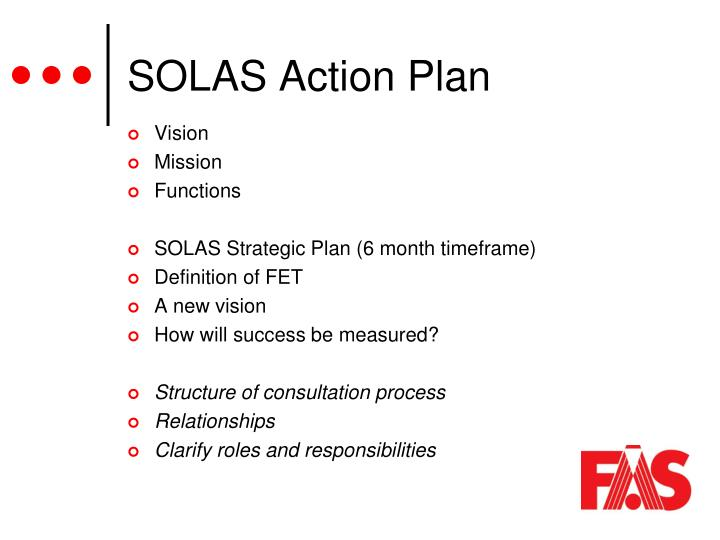 SOLAS Action Plan