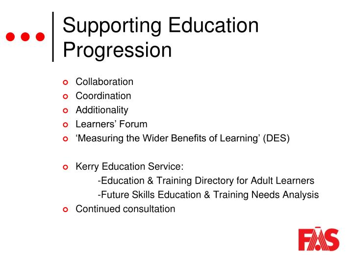 Supporting Education Progression