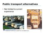 public transport alternatives