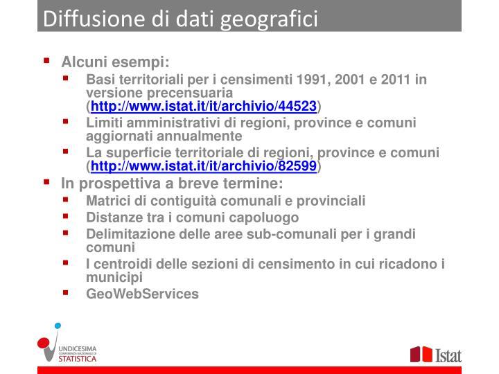 Diffusione di dati geografici