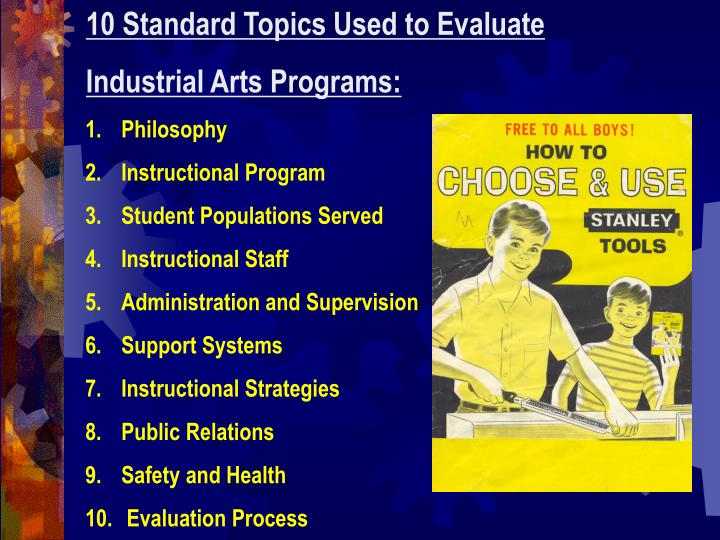10 Standard Topics Used to Evaluate