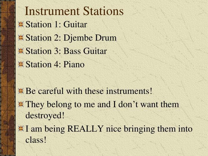 Instrument Stations
