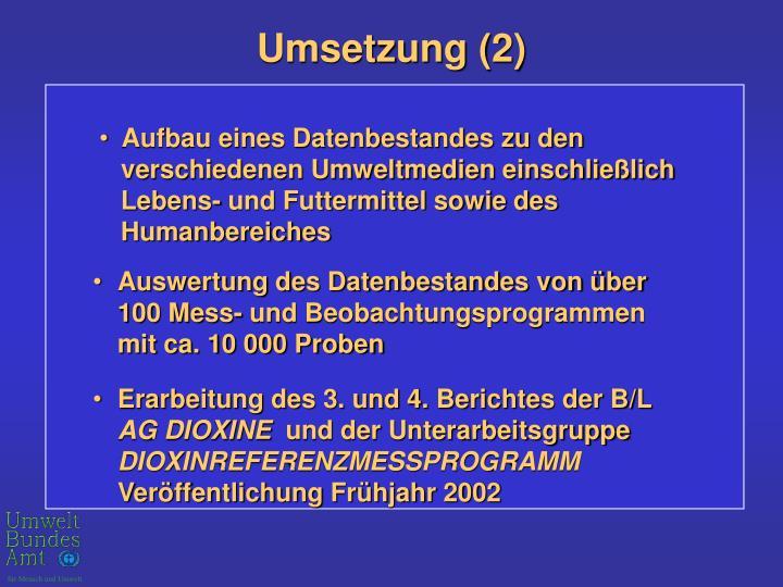 Umsetzung (2)