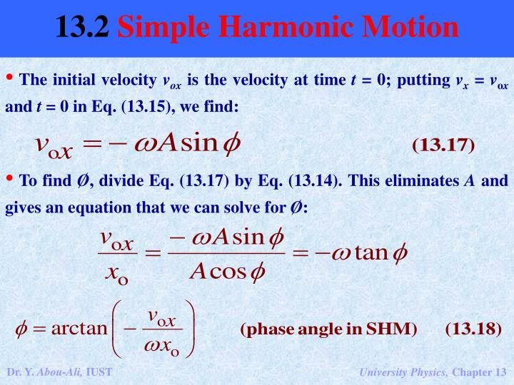 The initial velocity