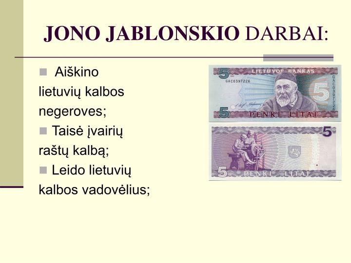 JONO JABLONSKIO
