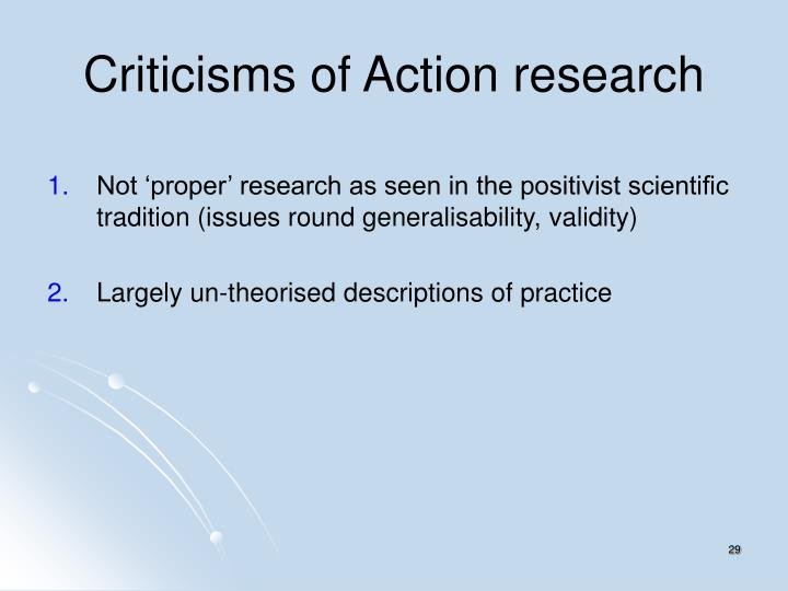Criticisms of Action research