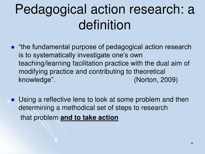 Pedagogical action research: a definition