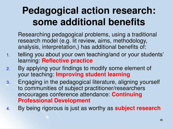 Pedagogical action research: