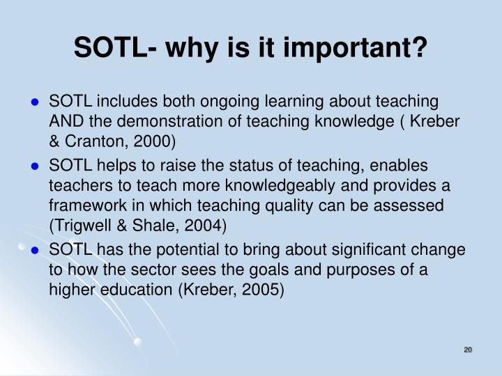 SOTL- why is it important?