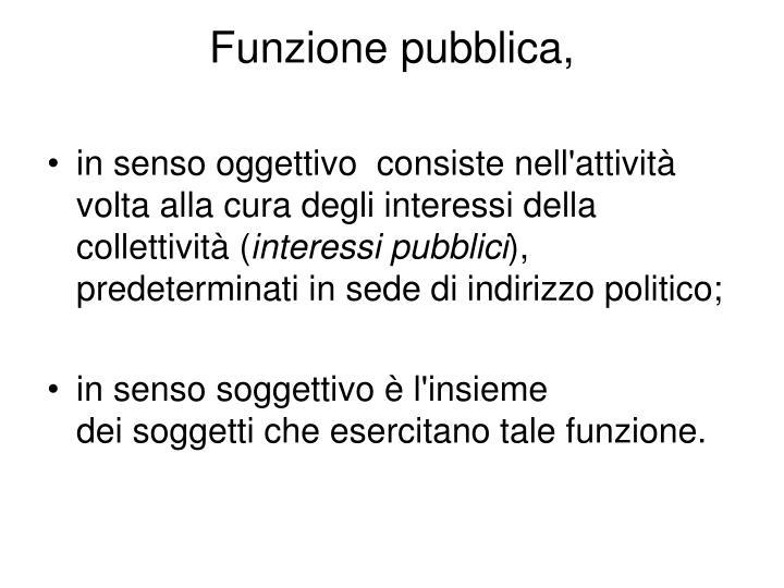 Funzione pubblica,