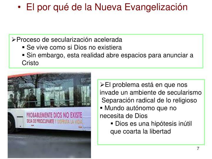 El por qué de la Nueva Evangelización