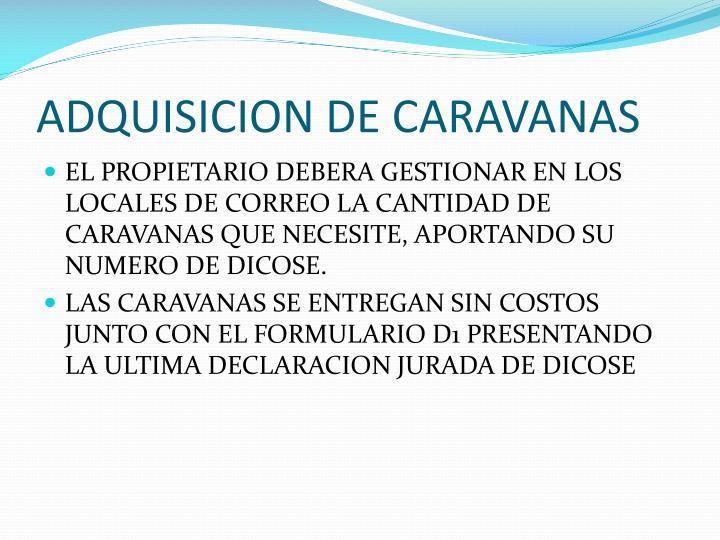 ADQUISICION DE CARAVANAS