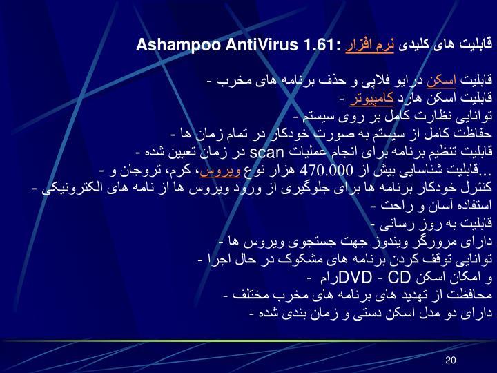 Ashampoo AntiVirus 1.61: