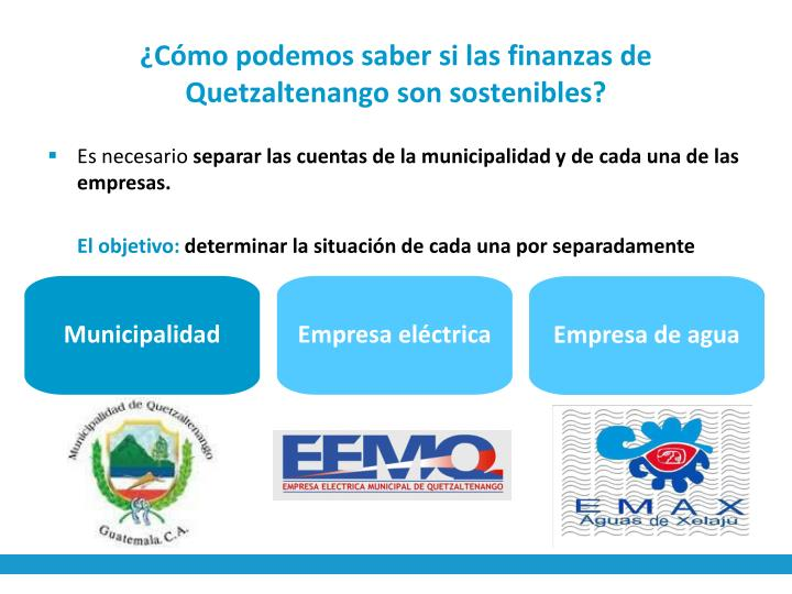 ¿Cómo podemos saber si las finanzas de Quetzaltenango son sostenibles?