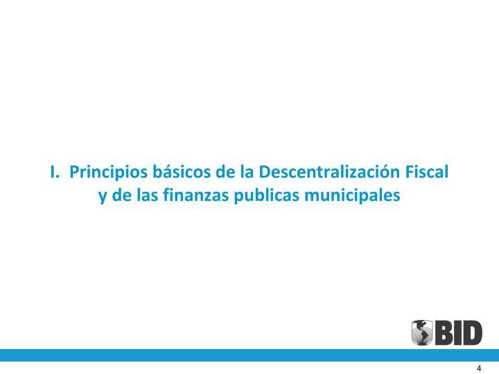 I.  Principios básicos