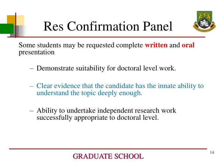 Res Confirmation Panel