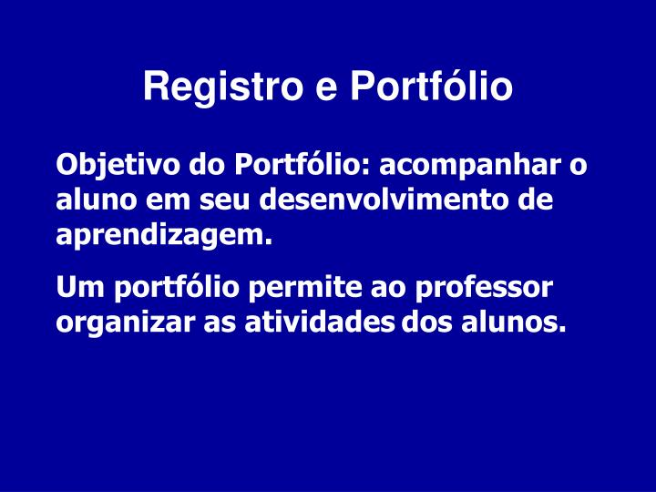 Registro e Portf