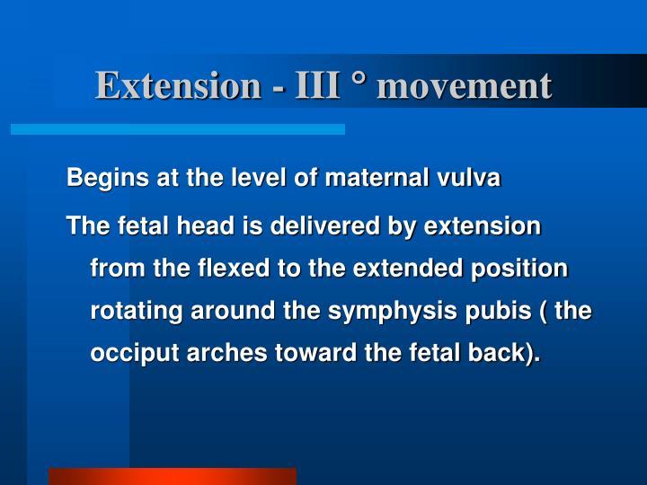 Extension - III