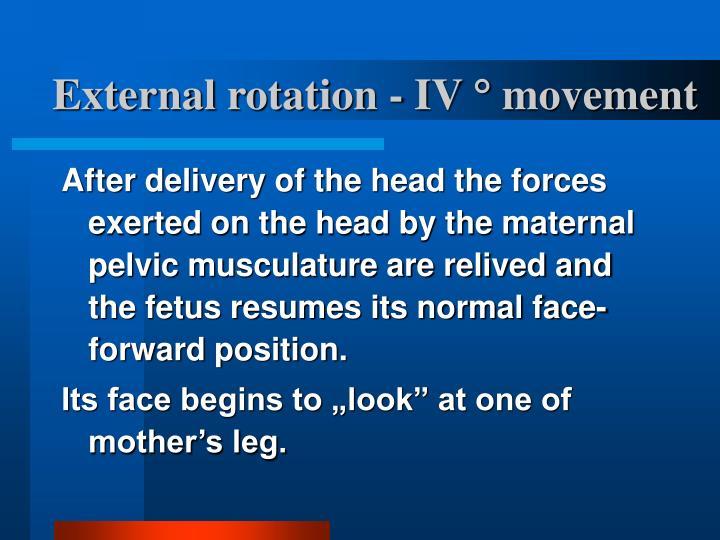 External rotation - IV