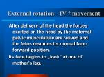 external rotation iv movement