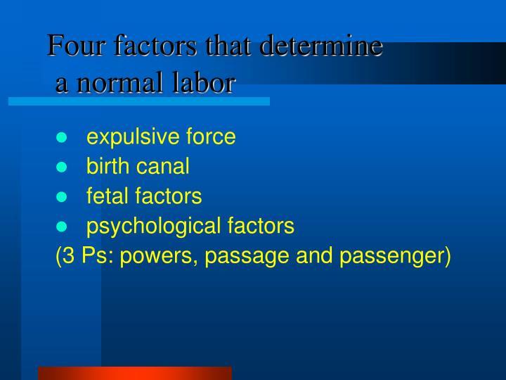 Four factors that determine
