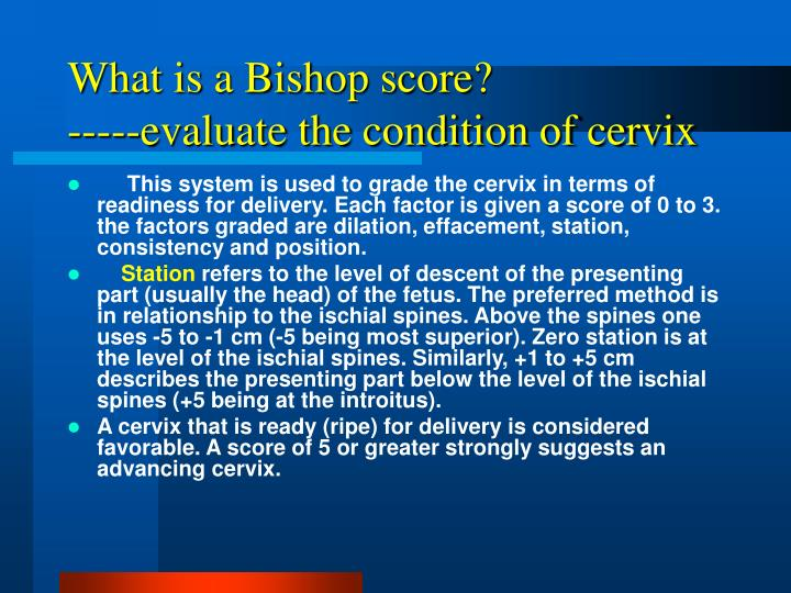 What is a Bishop score?