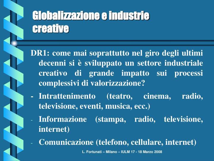 Globalizzazione e industrie creative
