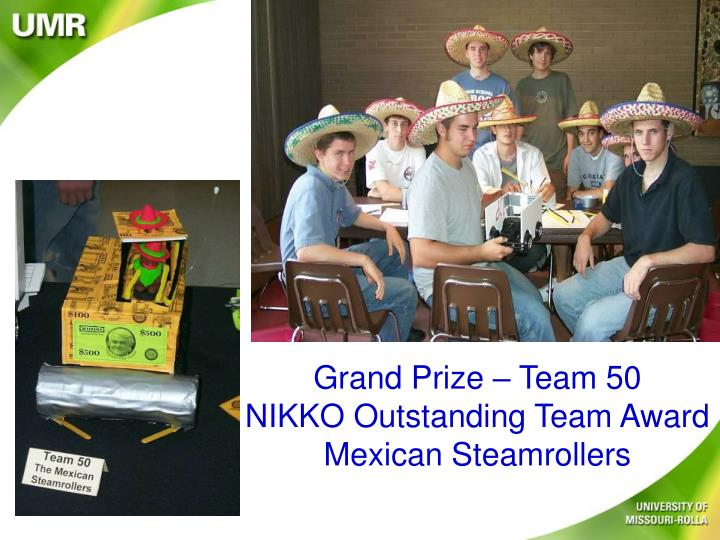 Grand Prize – Team 50
