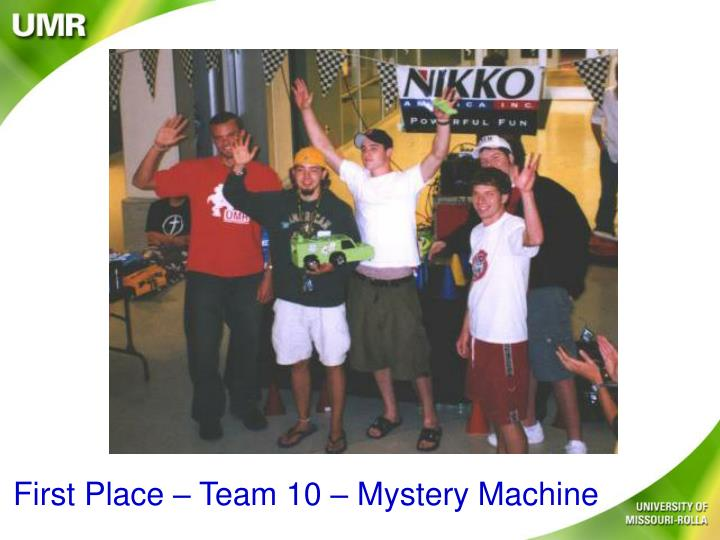 First Place – Team 10 – Mystery Machine