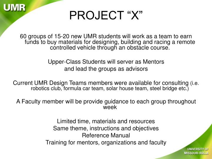 "PROJECT ""X"""