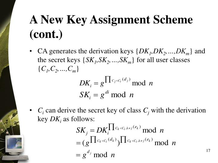 A New Key Assignment Scheme (cont.)