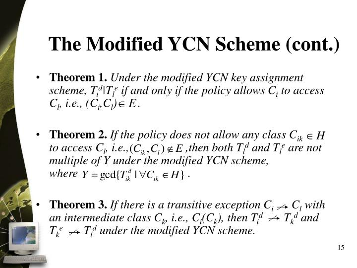 The Modified YCN Scheme (cont.)